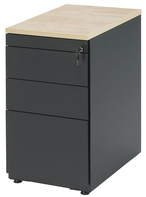 bs1336 caisson hauteur bureau avec 3 tiroirs incl plumier alu burodepo meubles et mobilier. Black Bedroom Furniture Sets. Home Design Ideas