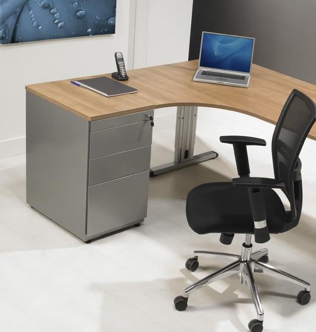 bs1336 caisson hauteur bureau avec 3 tiroirs incl plumier alu burodepo meubles et mobilier. Black Bedroom Furniture Sets. Home Design Ideas