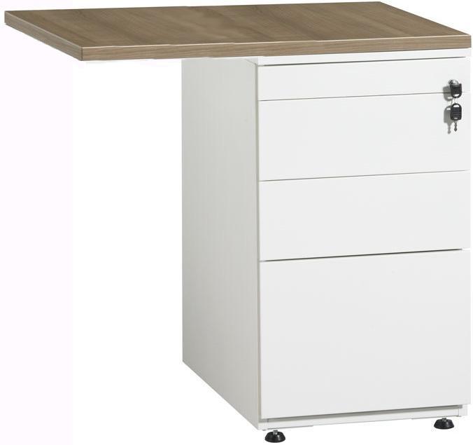 bt1336 retour sur caisson hauteur bureau 80x60cm avec. Black Bedroom Furniture Sets. Home Design Ideas