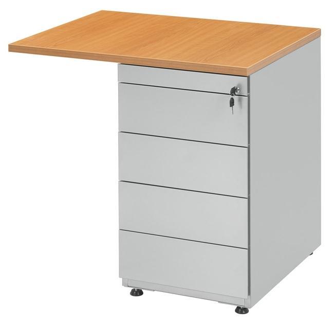 bt13333 retour sur caisson hauteur bureau 80x60cm avec caisson 4 tiroirs burodepo meubles et. Black Bedroom Furniture Sets. Home Design Ideas