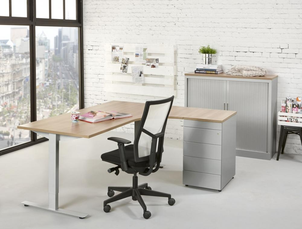 Tc180r bureau compact top 180x120cm droit burodepo for Meuble bureau compact