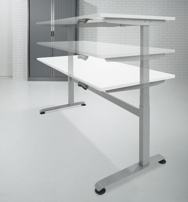 Bef188 bureau assis debout avec lectrification 180x80cm for Bureau assis