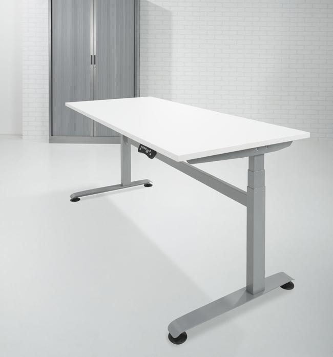 bef188 bureau assis debout avec lectrification 180x80cm. Black Bedroom Furniture Sets. Home Design Ideas