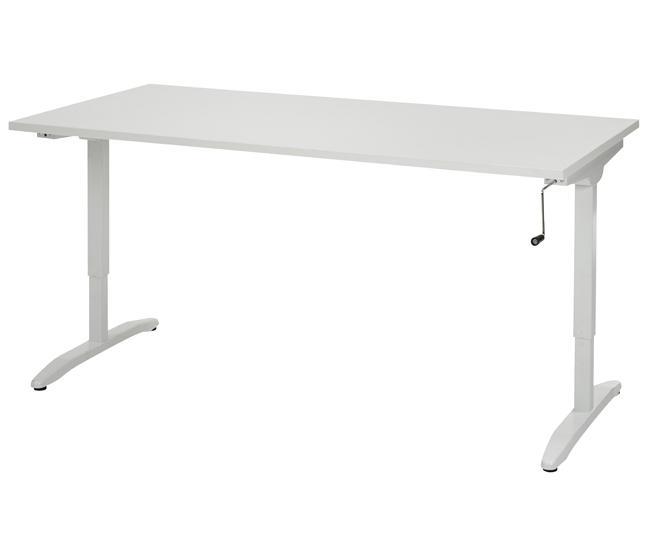 best168 bureau r glable par manivelle 160x80cm burodepo meubles et mobilier de bureau neufs. Black Bedroom Furniture Sets. Home Design Ideas