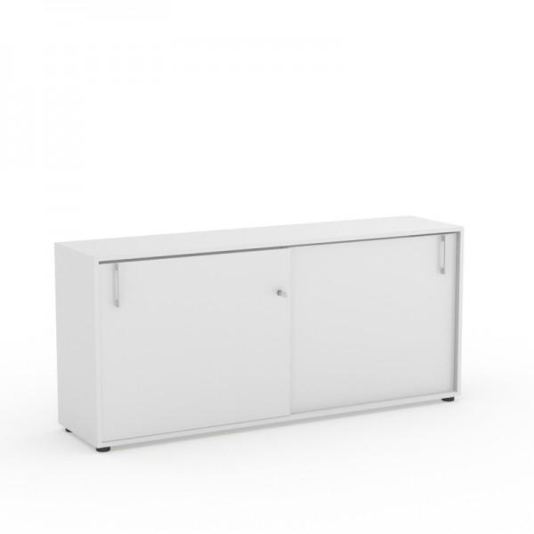 nanova arm7416 armoire basse portes coulissantes h74xl164xp40cm burodepo meubles et. Black Bedroom Furniture Sets. Home Design Ideas