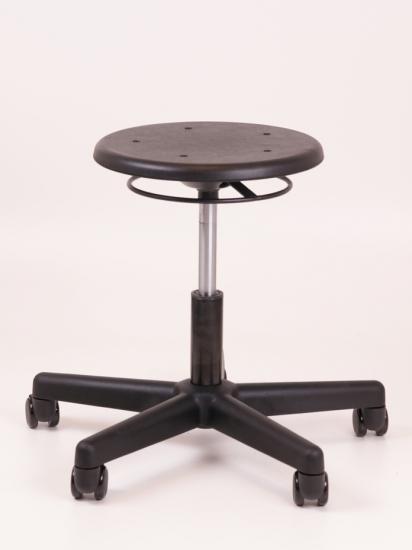 cs323 tabouret bas pu noir nylon burodepo meubles et mobilier de bureau neufs et occasions. Black Bedroom Furniture Sets. Home Design Ideas