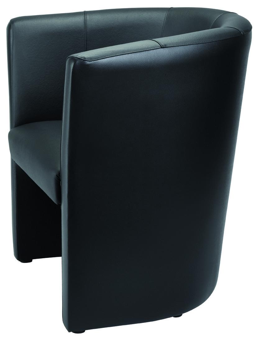 MEFAU CLUB2500 Fauteuil Club cuir noir 1 place BuroDepo meubles et