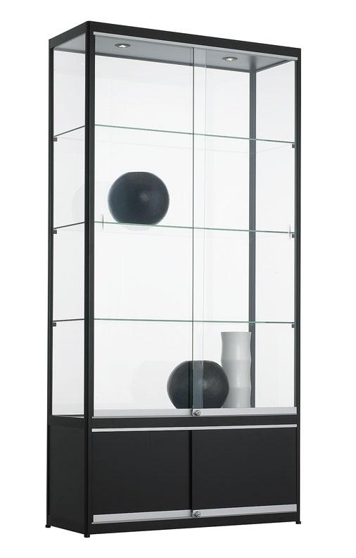 bev100 o vitrine avec armoire en dessous h200xl100xp40cm burodepo meubles et mobilier de. Black Bedroom Furniture Sets. Home Design Ideas