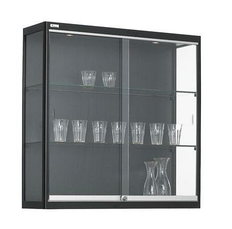 bev100 w armoire vitrine murale h100xl100xp30cm. Black Bedroom Furniture Sets. Home Design Ideas