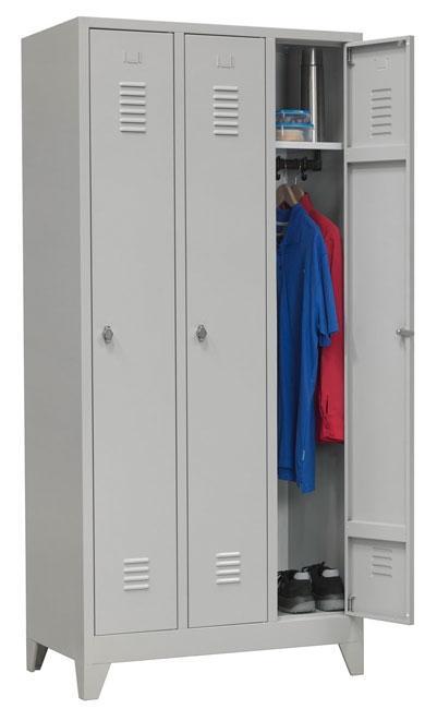 oov 183 armoire vestiaire 3 portes h180xl89xp50cm burodepo meubles et mobilier de bureau. Black Bedroom Furniture Sets. Home Design Ideas