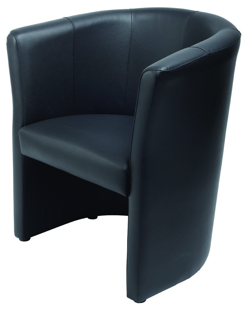 mefau club2500 fauteuil club cuir noir 1 place burodepo meubles et mobilier de bureau neufs et. Black Bedroom Furniture Sets. Home Design Ideas