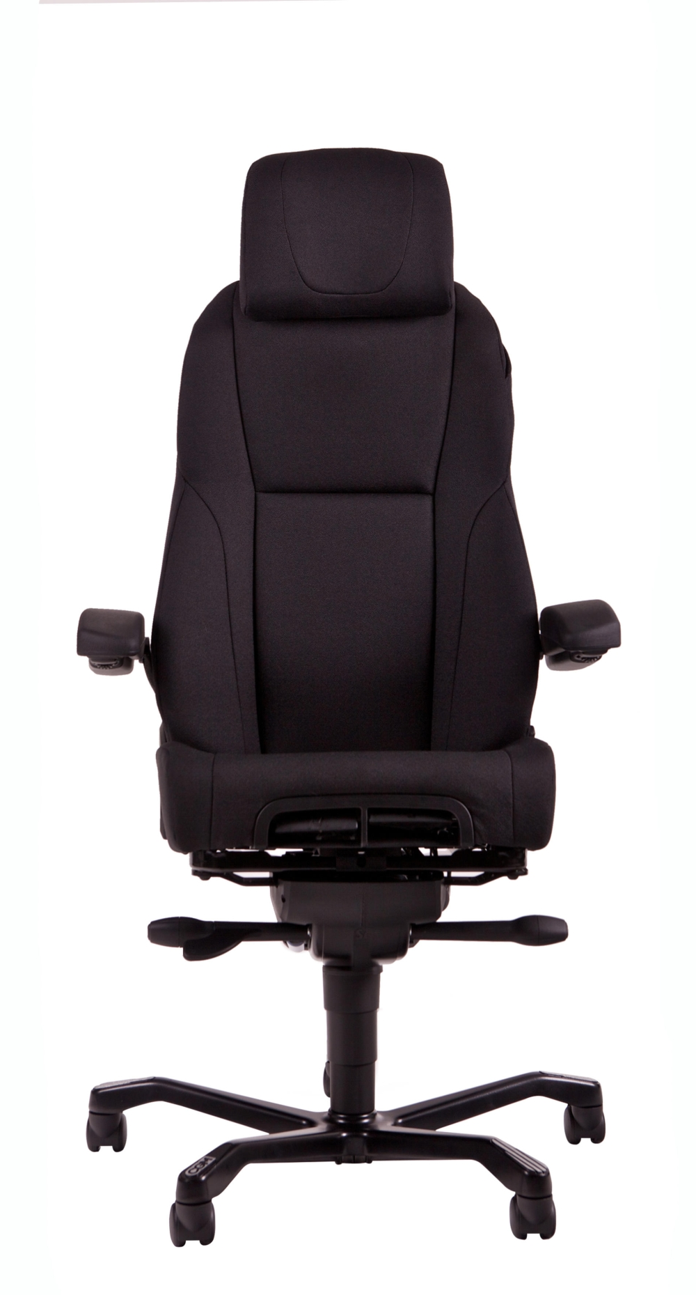 a381s si ge de bureau 24 heures a381 tissu noir burodepo meubles et mobilier de bureau neufs. Black Bedroom Furniture Sets. Home Design Ideas