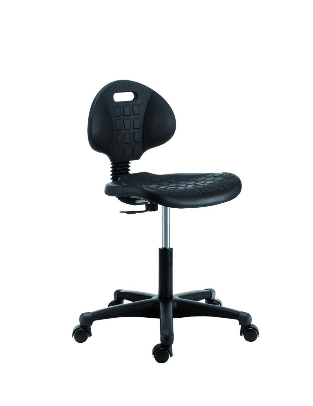 Tp2051 chaise basse de travail en noir pu burodepo for Chaise de travail
