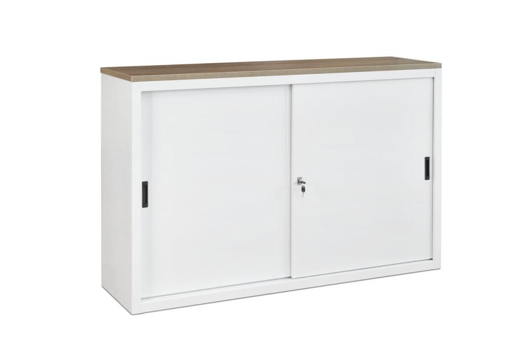 160ls armoire basse portes coulissantes h76xl160xp45cm burodepo meubles - Penderie basse porte coulissante ...