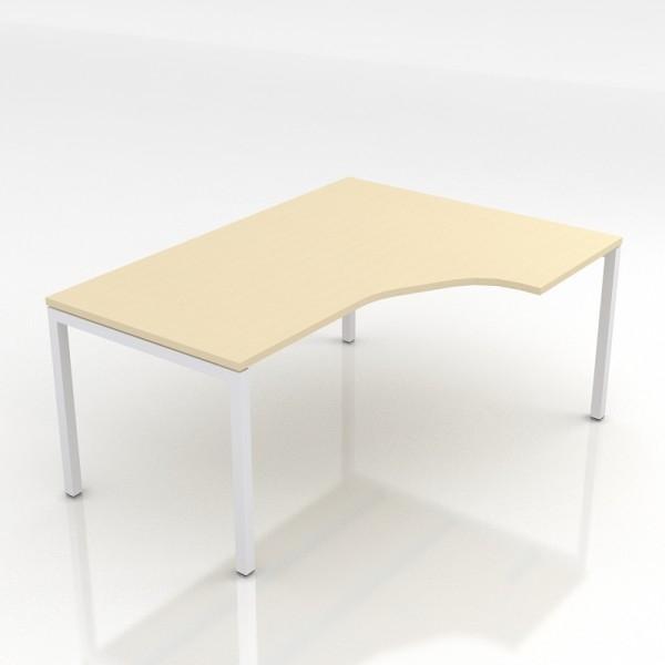 Nanova rc162 bureau compact nova droite 160x120cm for Meuble bureau compact