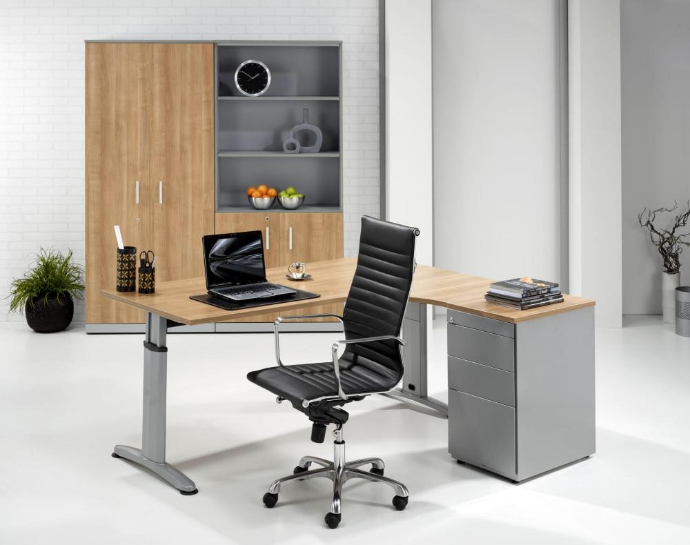 Dt160r bureau compact double t 160x120cm rechts burodepo for Meuble bureau compact
