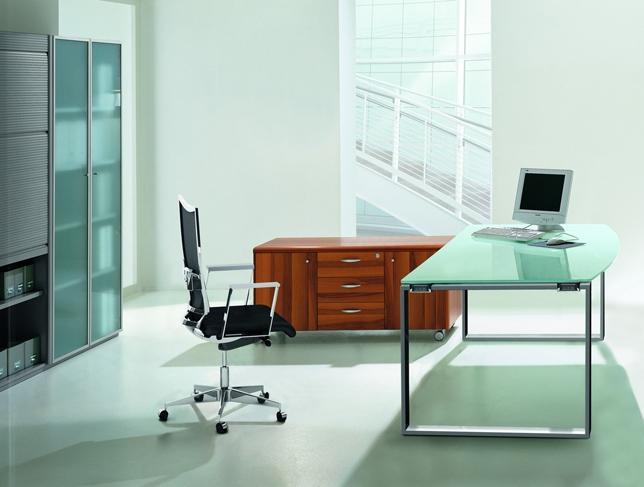 quadri feaa0180 bureau ring l180xp101cm plateau verre burodepo meubles et mobilier de bureau. Black Bedroom Furniture Sets. Home Design Ideas