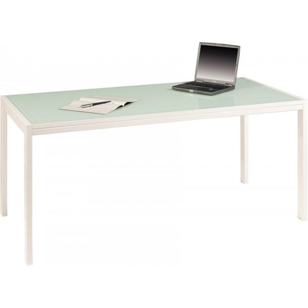 Rio16 table en verre rio 160x80cm burodepo meubles et for Table de bureau en verre