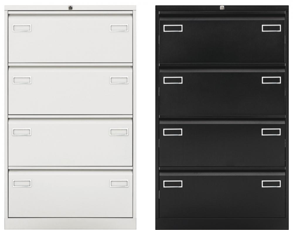 Cl4dl classeur xl 4 tiroirs pour dossiers suspendus for Meuble bureau tiroir dossier suspendu