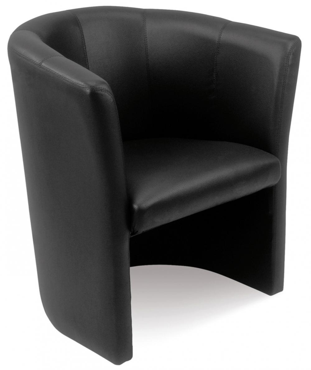 mefau club2500 fauteuil club cuir noir 1 place burodepo. Black Bedroom Furniture Sets. Home Design Ideas