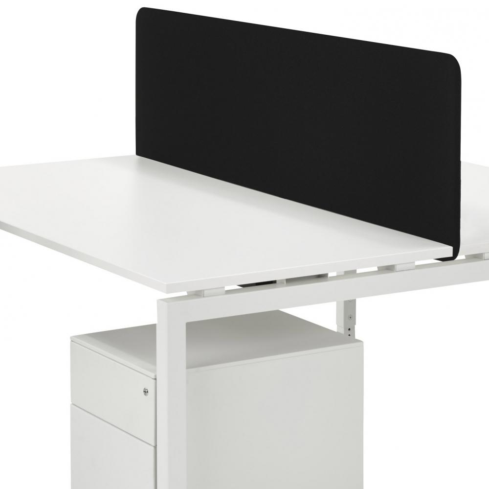 oocl bez18z panneau de s paration noir 180x45cm burodepo meubles et mobilier de bureau neufs. Black Bedroom Furniture Sets. Home Design Ideas