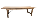Table pliante en bois COUNTRY 255X102 cm